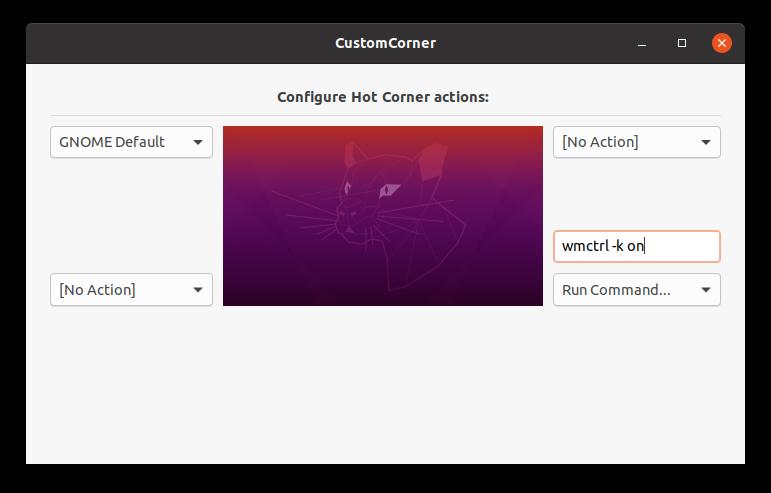 Настройка расширения Custom Corner для Gnome